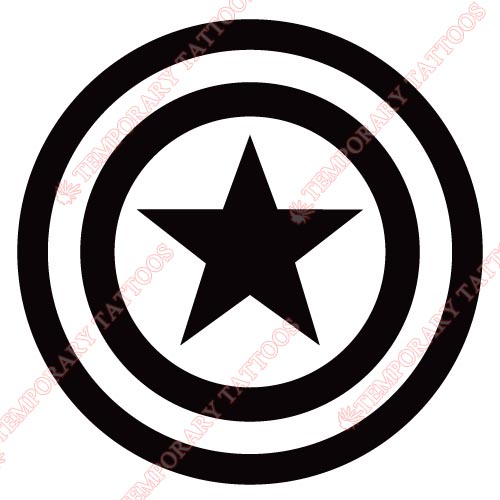 Captain america customize temporary tattoos stickers no 58