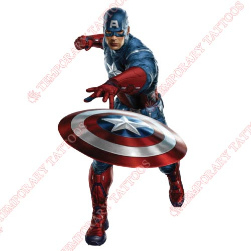 Captain America Customize Temporary Tattoos Stickers NO.68