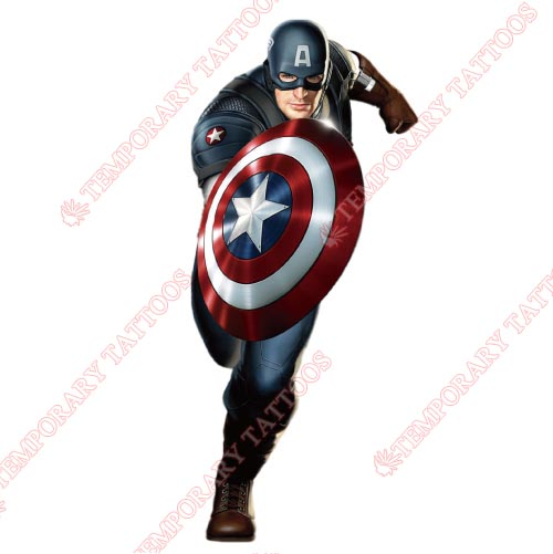 Captain america temp tattoos customize temporary tattoos for Superhero temporary tattoos