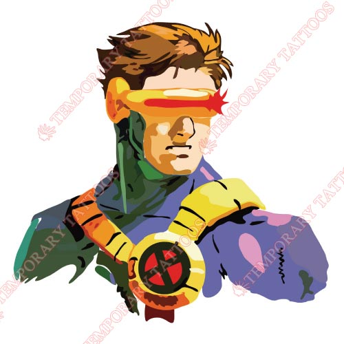 Cyclops Marvel Customize Temporary Tattoos Stickers NO.471