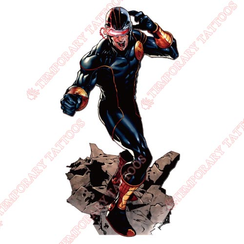 Cyclops Marvel Customize Temporary Tattoos Stickers NO.472