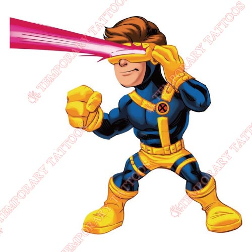 Cyclops Marvel Customize Temporary Tattoos Stickers NO.475