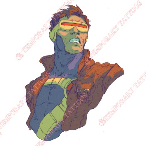 Cyclops Marvel Customize Temporary Tattoos Stickers NO.477