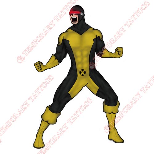 Cyclops Marvel Customize Temporary Tattoos Stickers NO.478