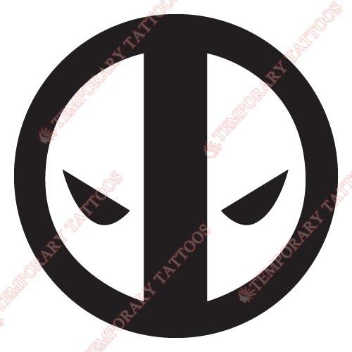 Deadpool customize temporary tattoos stickers no 386
