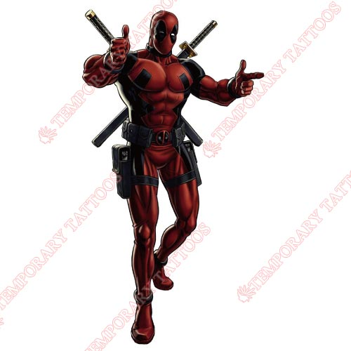Deadpool Customize Temporary Tattoos Stickers NO.391