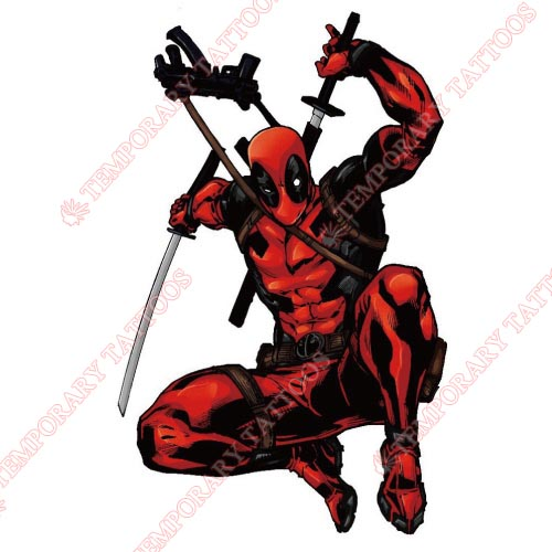 Deadpool Customize Temporary Tattoos Stickers NO.395