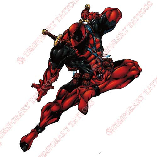 Deadpool Customize Temporary Tattoos Stickers NO.399