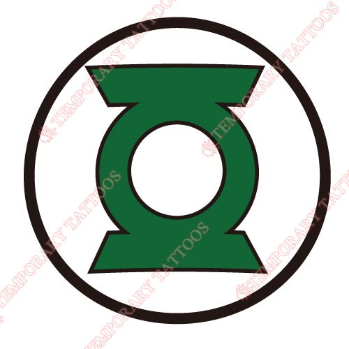 Green Lantern Customize Temporary Tattoos Stickers NO.132