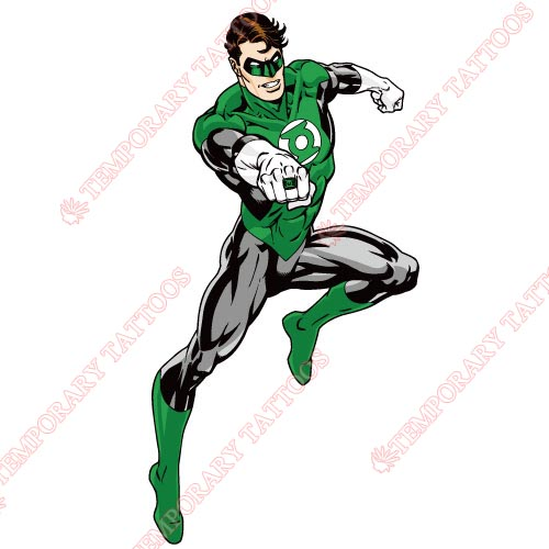 Green Lantern Customize Temporary Tattoos Stickers NO.133