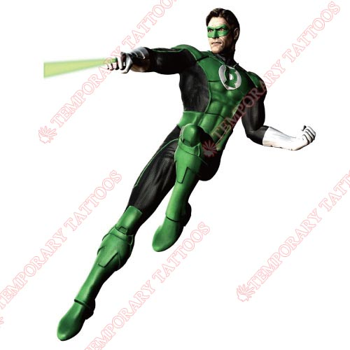 Green Lantern Customize Temporary Tattoos Stickers NO.135