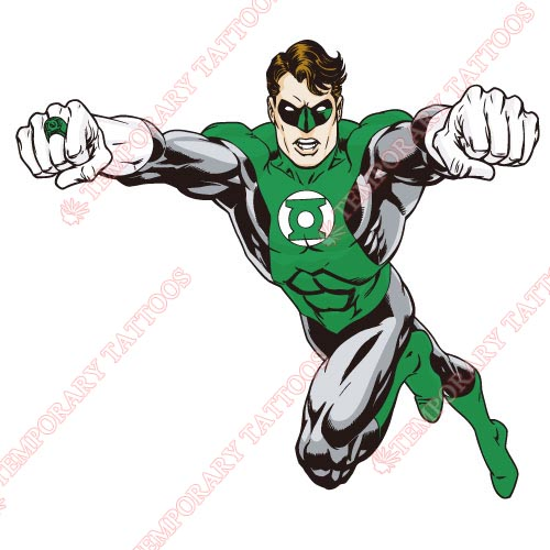 Green Lantern Customize Temporary Tattoos Stickers NO.136