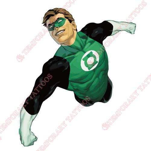 Green Lantern Customize Temporary Tattoos Stickers NO.137