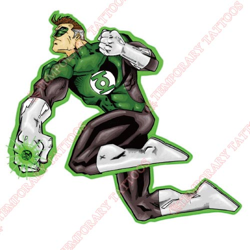 Green Lantern Customize Temporary Tattoos Stickers NO.138