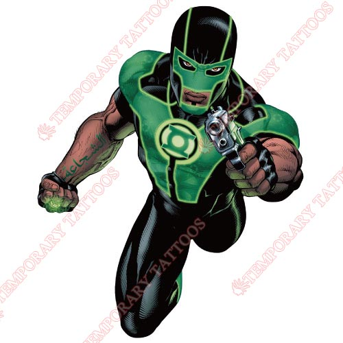 Green Lantern Customize Temporary Tattoos Stickers NO.144