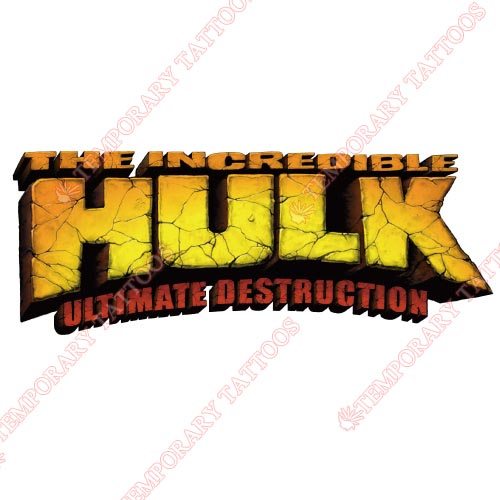 Hulk Customize Temporary Tattoos Stickers NO.148