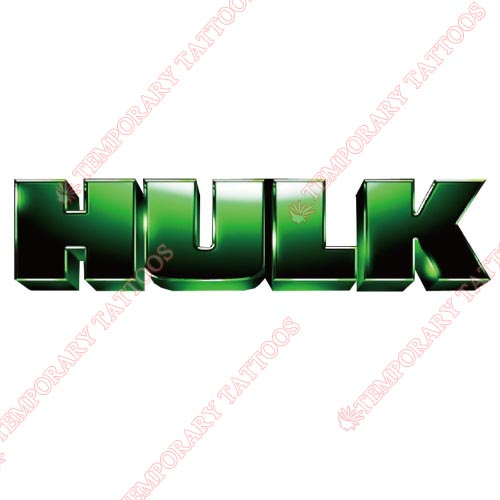 Hulk Customize Temporary Tattoos Stickers NO.149