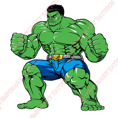 Hulk Customize Temporary Tattoos Stickers NO.155