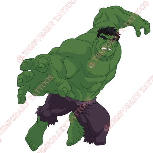 Hulk Customize Temporary Tattoos Stickers NO.156