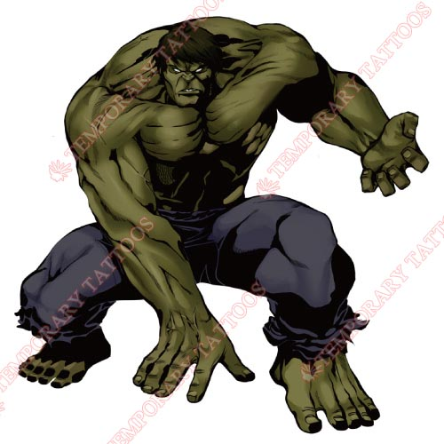 Hulk Customize Temporary Tattoos Stickers NO.158