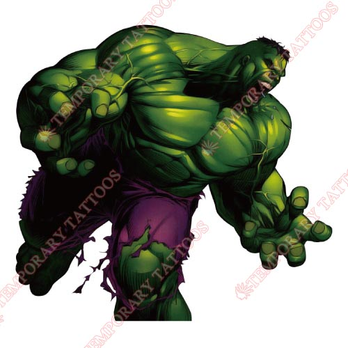 Hulk Customize Temporary Tattoos Stickers NO.163
