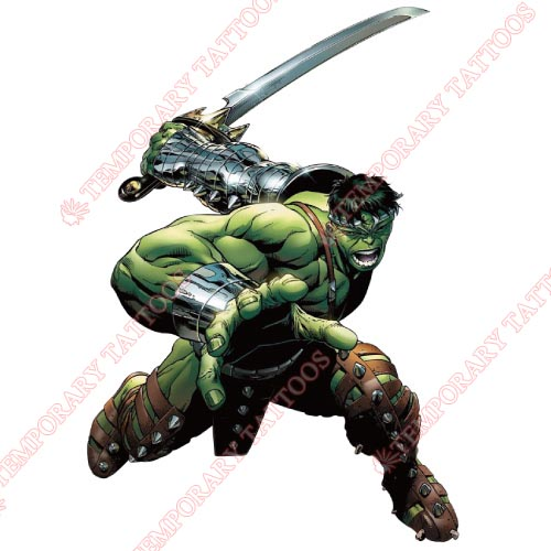 Hulk Customize Temporary Tattoos Stickers NO.166