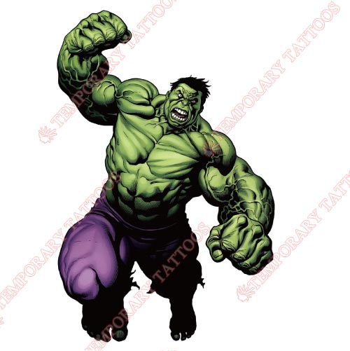 Hulk Customize Temporary Tattoos Stickers NO.178