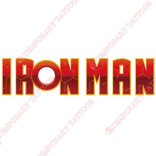 Iron Man Customize Temporary Tattoos Stickers NO.186