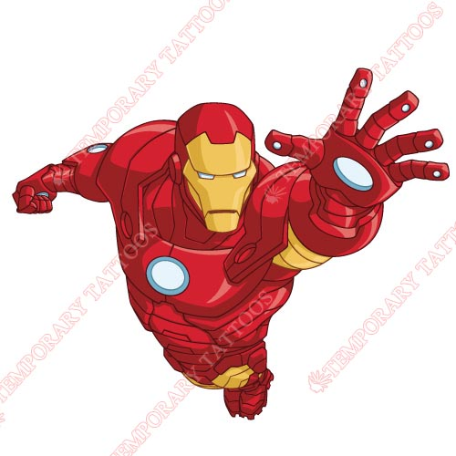 Iron Man Customize Temporary Tattoos Stickers NO.196