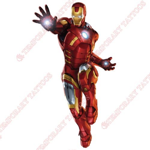 Iron Man Customize Temporary Tattoos Stickers NO.208