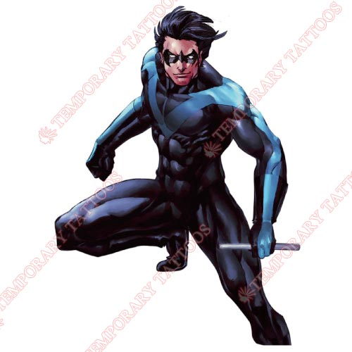 Nightwing Customize Temporary Tattoos Stickers NO.417