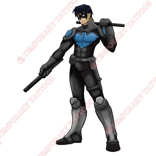 Nightwing Customize Temporary Tattoos Stickers NO.423