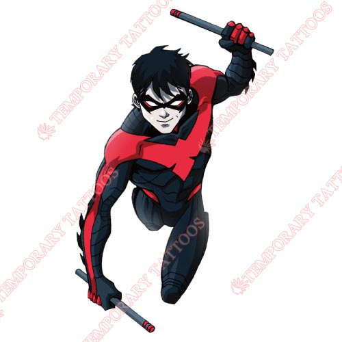 Nightwing Customize Temporary Tattoos Stickers NO.425
