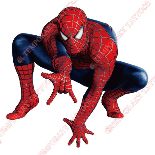 Spiderman customize temporary tattoos stickers for Superhero temporary tattoos
