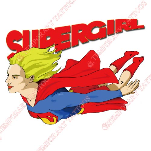 Supergirl Customize Temporary Tattoos Stickers NO.274