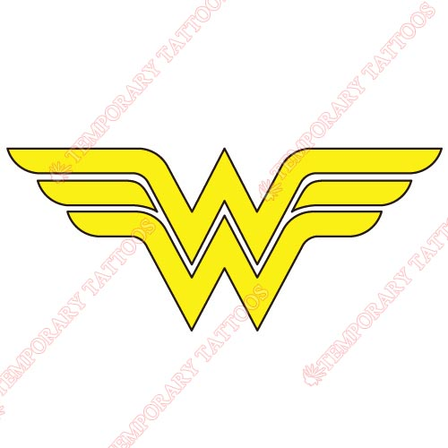 Wonder Woman Customize Temporary Tattoos Stickers NO.362