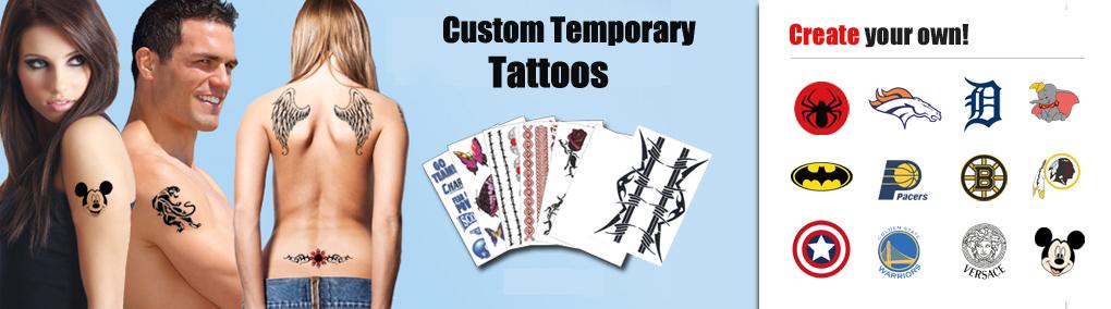 Custom temporary tattoos tattoo stickers tattoo sales fake tattoo